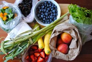 Frische Lebensmittel halten gesund